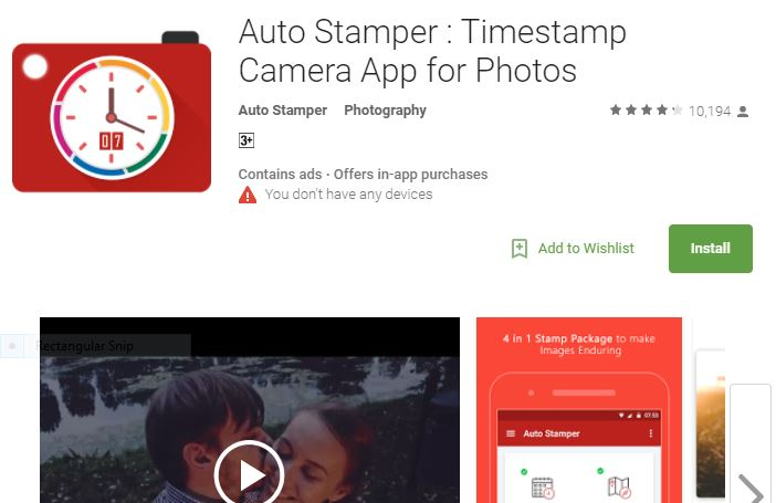 Stamping or Signature Apps