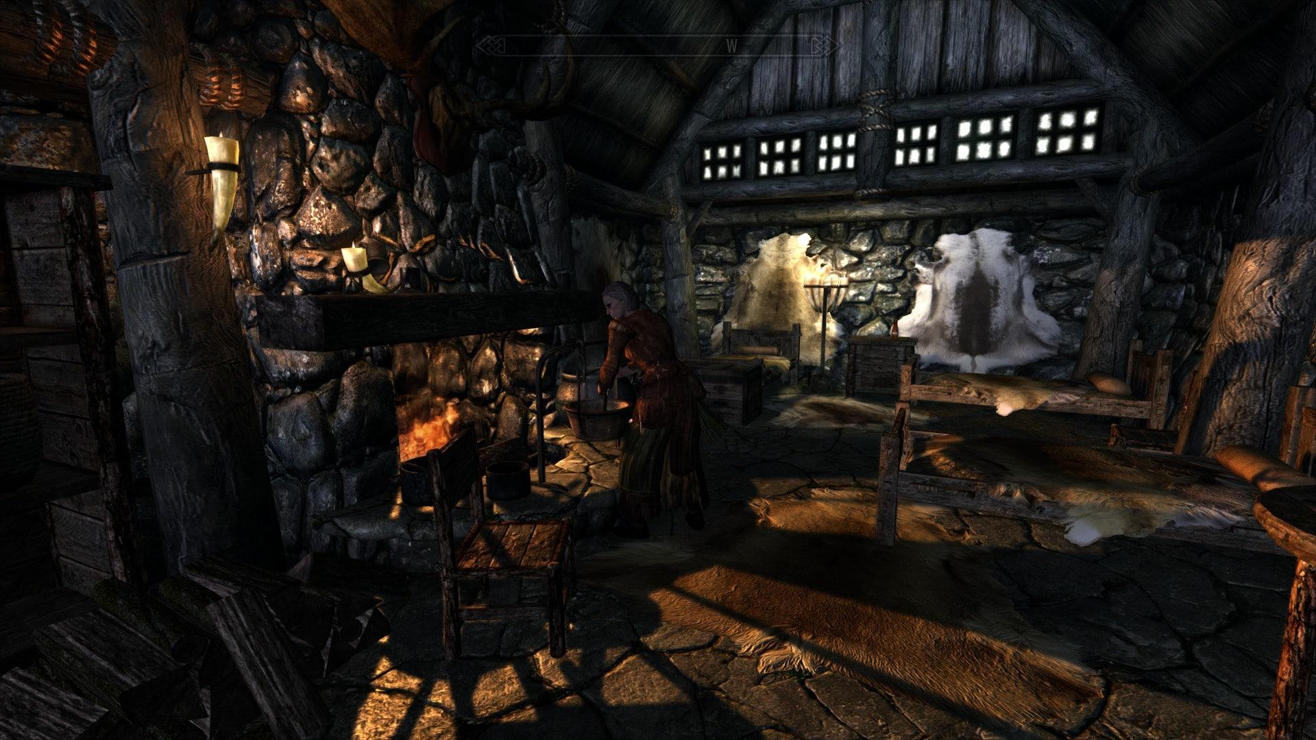 Relighting Skyrim game play