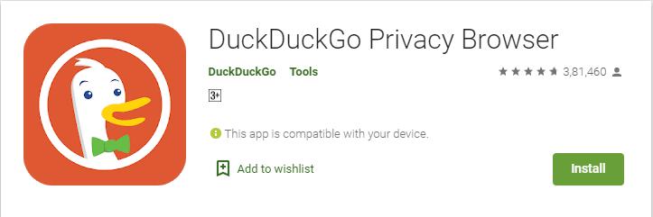 DuckDuck go browser