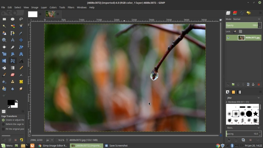 One of the best free Photo editing software is GIMP (GNU Image Manipulation  Program). It is an open-source application. After launching the program, ...