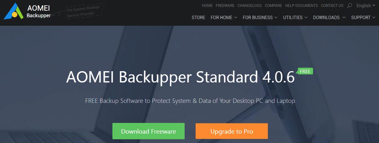 AOMEI Backupper Standard - Best Backup Software