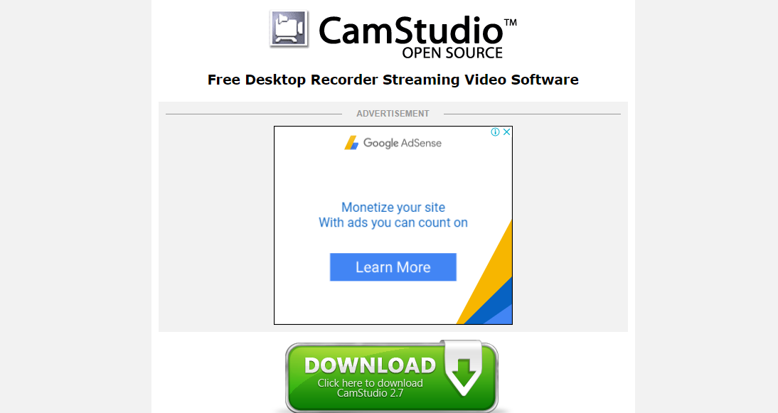 CamStudio - Screen Recording Software