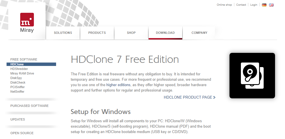 HDClone Free - Best Backup Software