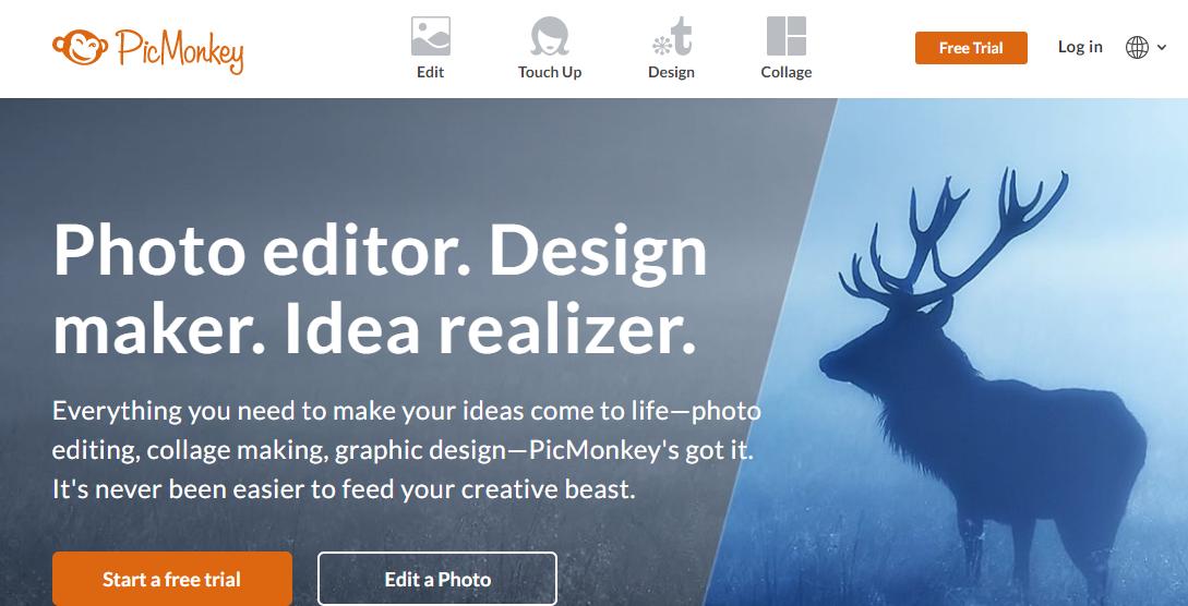 PicMonkey - Best Free Photoshop Alternatives
