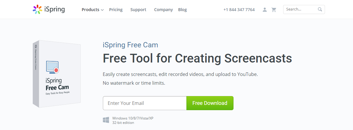 iSpring Free Cam -Screen Recording Software