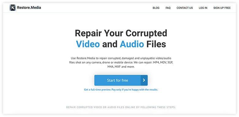 Repairing Corrupted Video Files Online