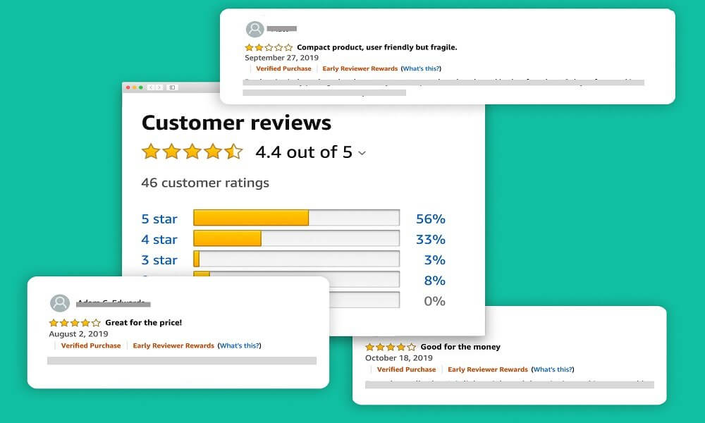 Reviews on Amazon