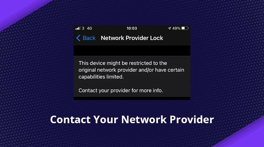 Contact Your Network Provider