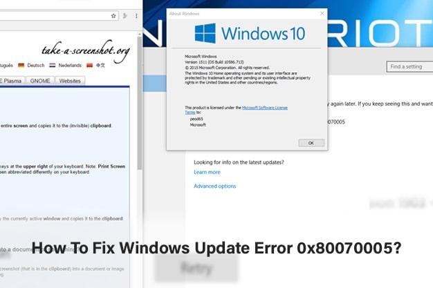 How To Fix Windows Update Error 0x80070005