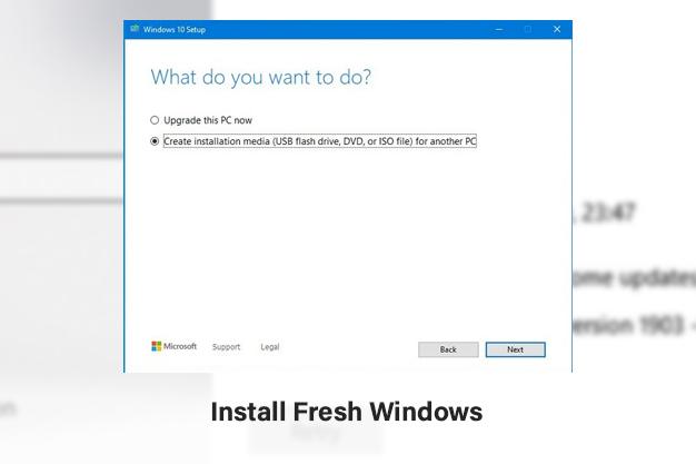 Install Fresh Windows