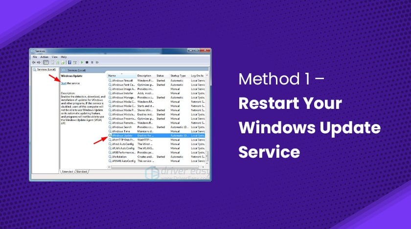 Restart Your Windows Update Service