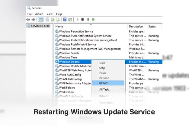Restarting Windows Update Service