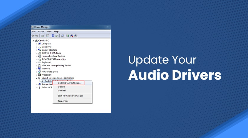 Update Your Audio Drivers