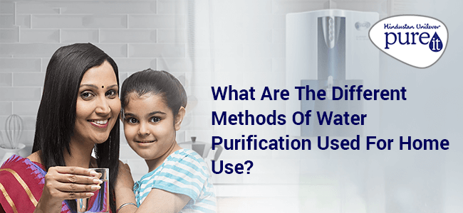 Different Methods Of Water Purification