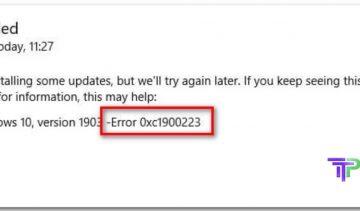 Windows Error 0xc1900223
