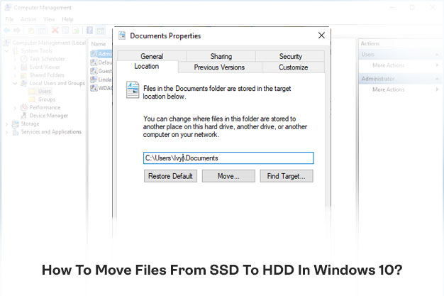 How To Move Files From SSD To HDD In Windows 10