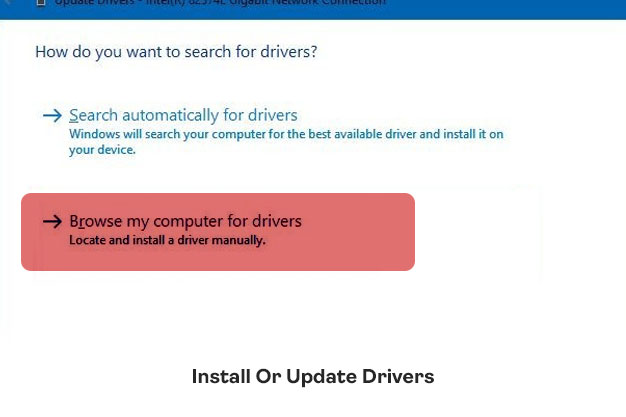 Install Or Update Drivers