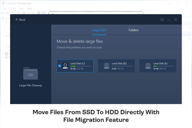 Move Files From SSD To HDD Directly With File Migration Feature