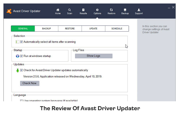 The Review Of Avast Driver Updater