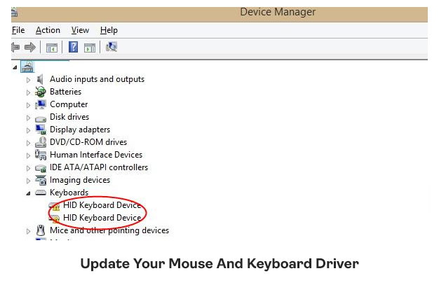 Update Your Mouse And Keyboard Driver
