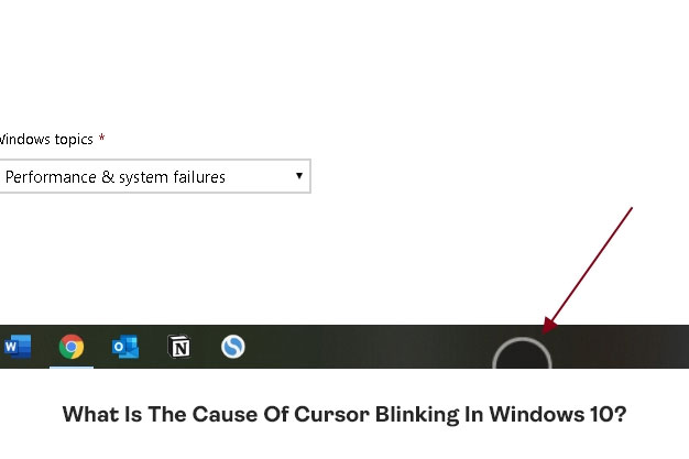 What Is The Cause Of Cursor Blinking In Windows 10