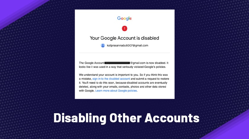 Disabling Other Accounts
