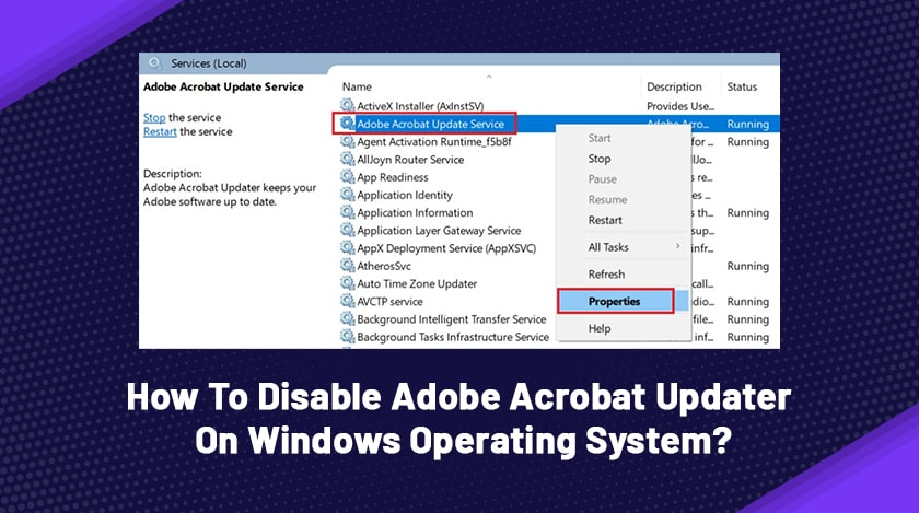 How To Disable Adobe Acrobat Updater On Windows Operating System