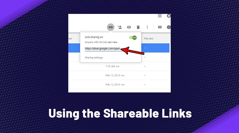 Using The Shareable Links