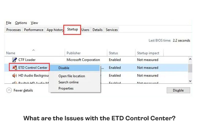 What Are The Issues With The ETD Control Center