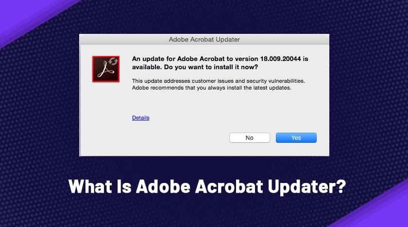 What Is Adobe Acrobat Updater