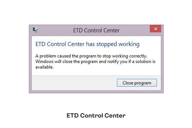 what is ETD control center