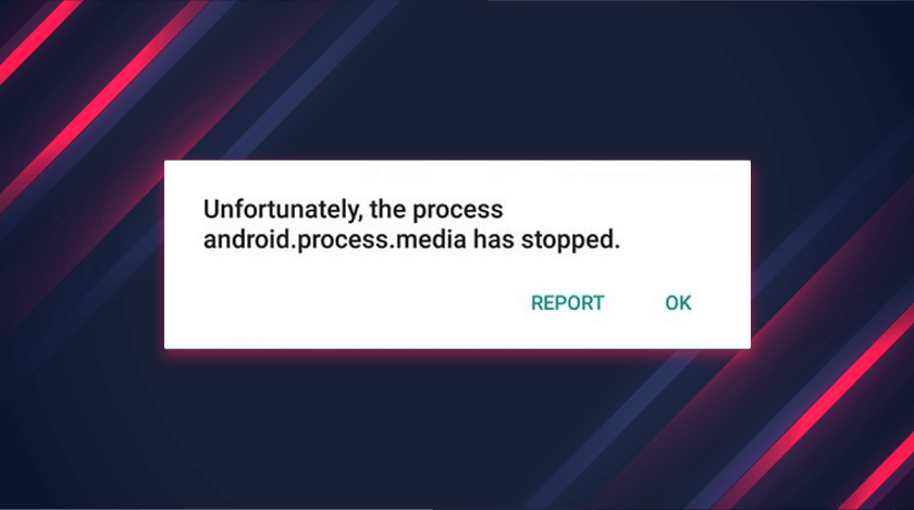 Android.Process.Media Has Stopped
