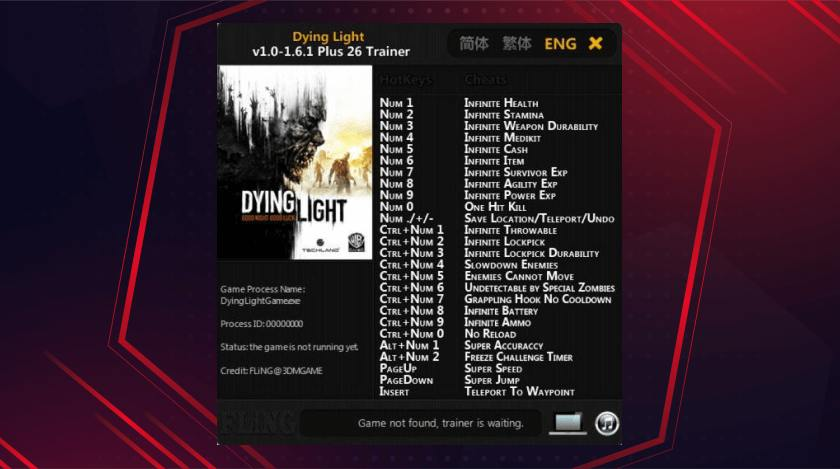 Command Of Dying Light Pc Cheats