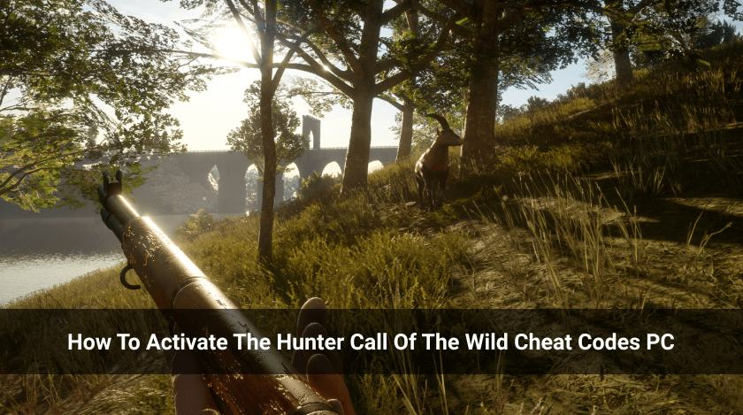 How To Activate The Hunter Call Of The Wild Cheat Codes PC