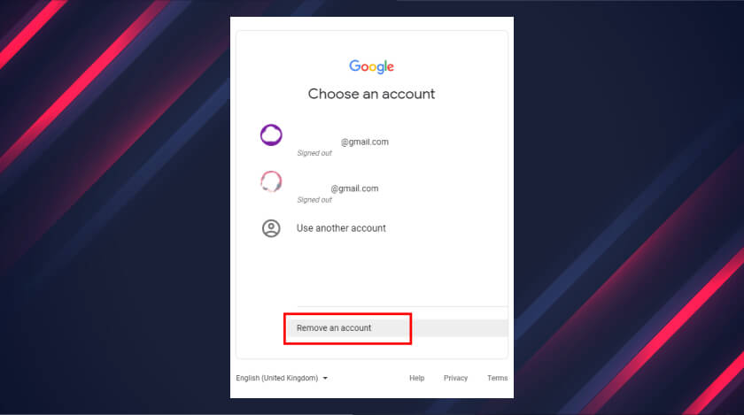 remove Google account from Chrome
